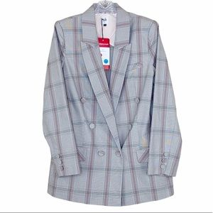 NWT Cabi Sleuth Blazer in Tailored Plaid